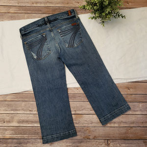 7 Seven For All Mankind Dojo Crop Jeans Size 28